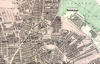 1883 Antique Map Large STREET PLAN LIVERPOOL Nth EVERTON Docks etc VICTORIAN