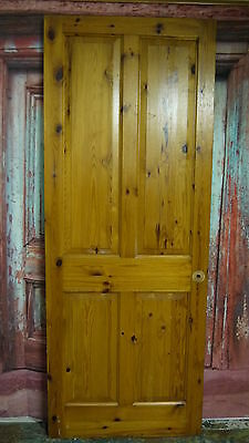 V29/51 (29 3/4 x 77 1/4) Reclaimed solid pine wooden door, N Yorks