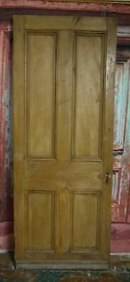 V29/10a (29 1/2 x 76 1/2) Antique victorian old solid pine wooden door, N Yorks