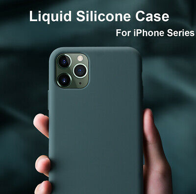 Liquid Silicone Case for iPhone 11 Pro 6 7 8Plus/XS Max XR X Hybrid Rubber Cover