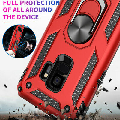 Military Armor Case for Samsung Galaxy A50 A50 A7 A6  Magnetic Ring Holder Cover