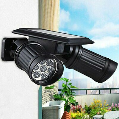 Waterproof 14LED Dual Head Solar Power Yard Light PIR Motion Sensor Spotlight TO