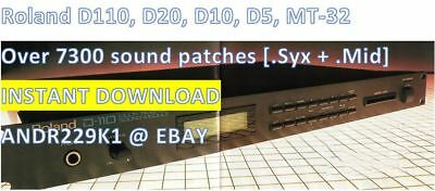 Roland D110, D20, D10, D5, MT-32 - 7300+ Patches Sound (.Syx) - Instant Download