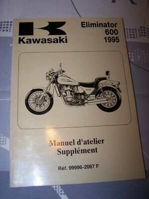 KC Manuel d'atelier Kawasaki Motocyclette Supplement Eliminator 600 1995