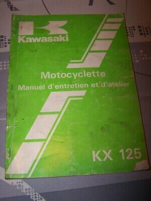 JH Manuel d'atelier/Workshop service Manual Kawasaki Motocyclette KX125 KX 125