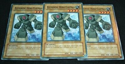 Yugioh Elemental Hero Clayman DP1-EN003 NM/MIMT 3X Common