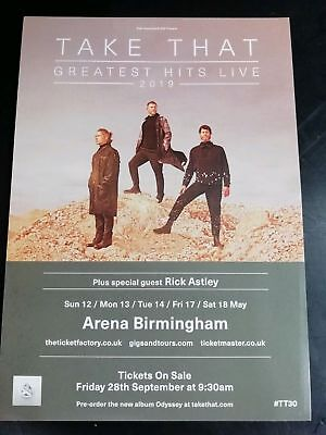 TAKE THAT GREATEST HITS 2019 TOUR FLYERs x3 SPECIAL GUEST RICK ASTLEY