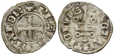 FORVM Crusaders Frankish Greece Achaea Philip of Taranto Denier Tournois 0.667g