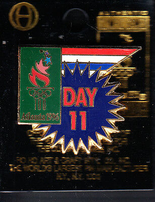 Rare Pins Pin's .. Olympique Olympic Atlanta 1996 Usa Day Jour 11 Onzieme ~16
