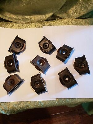 Lot Of 9 Vintage Window Pulley Weight Rollers