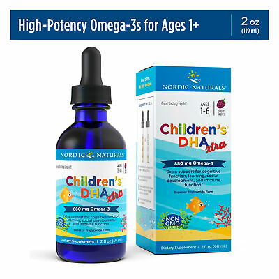 Nordic Naturals Children's DHA Xtra - Concentrated Omega-3 Fish Oil, Berry, 2 oz