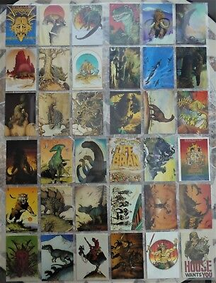 Lost Worlds by William Stout Comic Images - 1993 TRADING CARDS & RARE CHASE SET