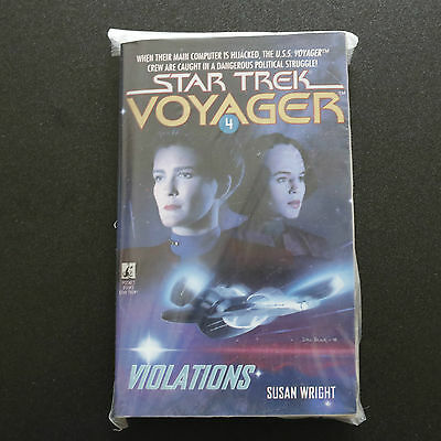 Vintage Star Trek Voyager Violations Book 4 Paperback Book Novel (1995)