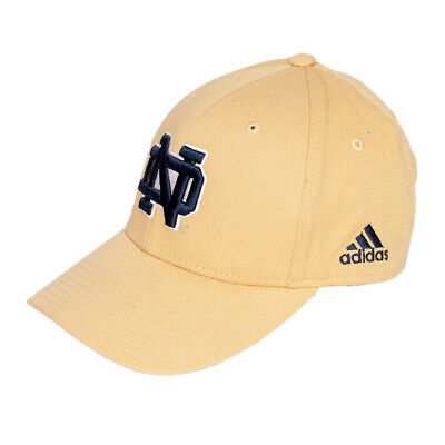 32bed14f Notre Dame Fighting Irish Adult Cap Hat One Size Adidas Gold