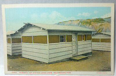 Mammoth Hot Springs Lodge Cabin Yellowstone National Park Postcard # 23404  1G