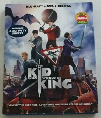 The Kid Who Would Be King (Blu-Ray + DVD, 2019) -Like New *Free Shipping*