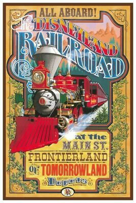 Disneyland Railroad - Collector Poster 4 Different Sizes  (B2G1 Free!!)