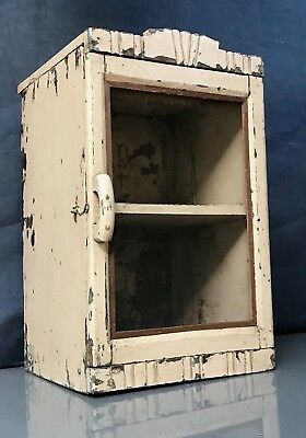 Antique Vintage Indian Art Deco Display Bathroom Cabinet. Pale Pink