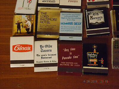 Vintage Collection Of Old Baltimore Metro Area Match Books - Lot Of 40