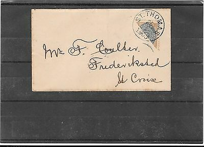 DANISH WEST INDIES 1903- bisected on cover (Ref E152)