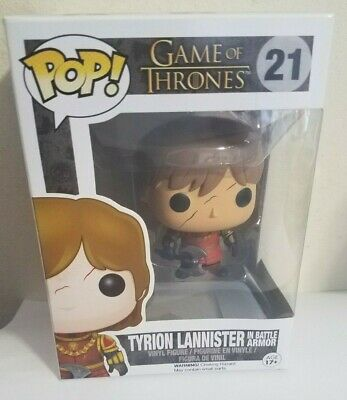 New!! Funko POP Game of Thrones (#21) Tyrion Lannister in Battle Armor Figure