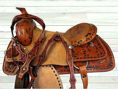 WESTERN SADDLE ROUGH Out Leather Fender Replacement Horse Stirrup