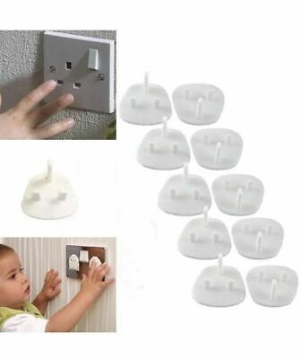 10 Baby Child Safety Plug Socket Covers Protector Guard Mains Electric Insert UK