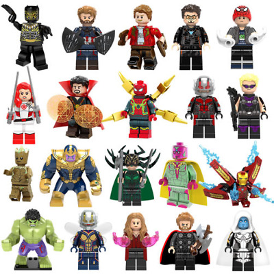 Marvel Minifigure DC Super Heroes Avengers Comics Thor Thanos Iron Man Toys Hulk