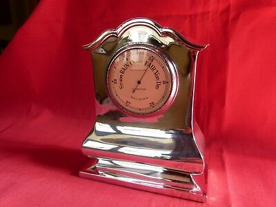 Rather Lovely 1920 Solid Silver Cased Harrod's Aneroid Barometer.stunning.