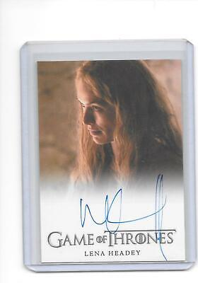 Game of Thrones Season 5 Lena Headey as Cersei Lannister Full Bleed Auto C