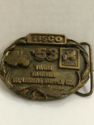 TISCO Tractor Implement Supply 53 Years Belt Buckle Limited Edition 1987 #1391