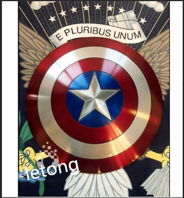 Top New Captain America Shield 1:1 Full Aluminum Metal Shield Cosplay Props 2019