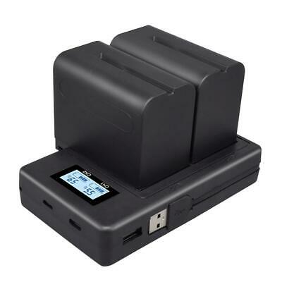 NP-F970 Battery For Sony Alpha CCD-SC5 Etc. Digital Camera Battery +USB Charger