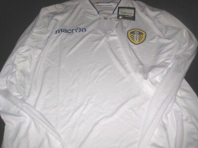 Leeds United Macron 2014/15 Long Sleeve Home Shirt  Tags/Packet Uk Size Xl