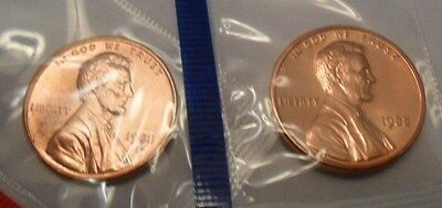 1988 P & D Lincoln Memorial Cent / Penny Set  *MINT CELLO*  **FREE SHIPPING**