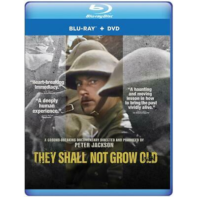 They Shall Not Grow Old (Blu-ray + DVD + Digital) Peter Jackson Documentary New!
