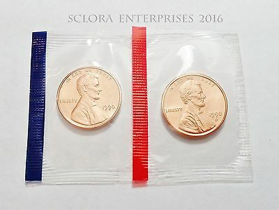1990 P & D Lincoln Memorial Cent / Penny Set *MINT CELLO*  **FREE SHIPPING**