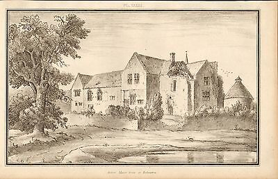 1803 Georgian Architectural Print ~Ancient Manor House Rodmarton Gloucestershire