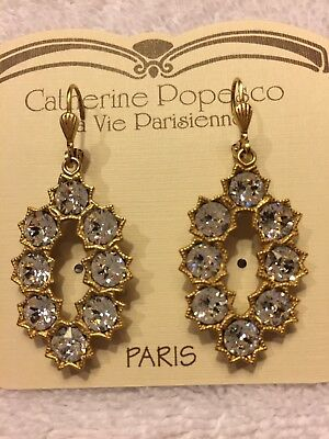 56f0cdbc9 La Vie Parisienne Earrings W/ Swarovski Crystals By Catherine Popesco -  Paris