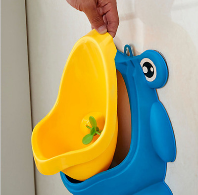 Baby Children Potty Urinal Toilet Training Boy Bathroom Frog Pee Trainer NEW AU