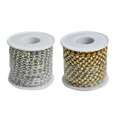 Cystal Rhinestone Close Cup Chain Trimming Claw Chain Jewelry Crafts 1 Row