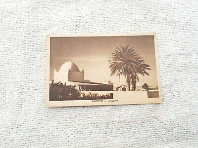 Vintage Old Djibouti Mosque Francolonis Street of barn-ory cachan Post Card