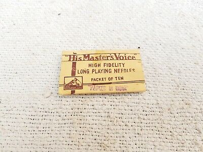 Vintage His Master Voice High Fidelity Long Playing Needles Pack Of Ten England