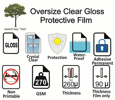 20 sheets A4 Protective clear adhesive laminate your prints last  - free post