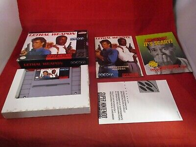 Lethal Weapon (Super Nintendo SNES, 1992) COMPLETE w/ Box manual game WORKS!