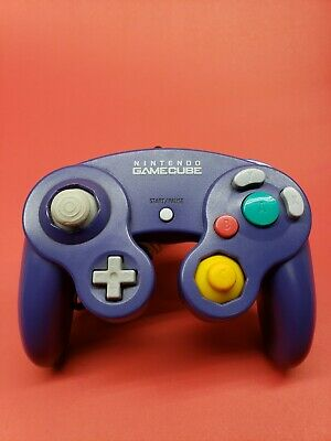 Official Nintendo GameCube Controller Original Indigo Purple (Tested, Working)