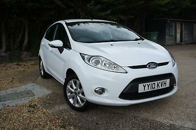 FORD FIESTA 1.4 TDCi 68 Zetec White Manual Diesel, 2010 Cheap Tax