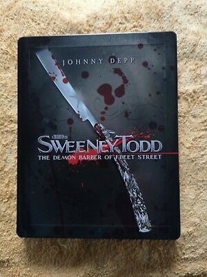 Sweeney Todd - Edition Limite Steelbook Blu Ray Zone 2 - Vf