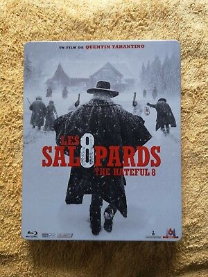LES 8 SALOPARDS / Blu-Ray  Steelbook Edition FNAC avec B O Comme Neuf  Zone 2