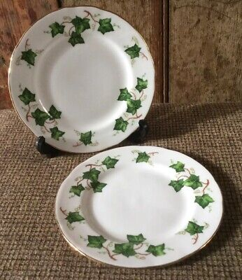"""Vintage 2 X Colclough Bone China """" Ivy Leaf"""" 6"""" Side Plates Very good condition"""